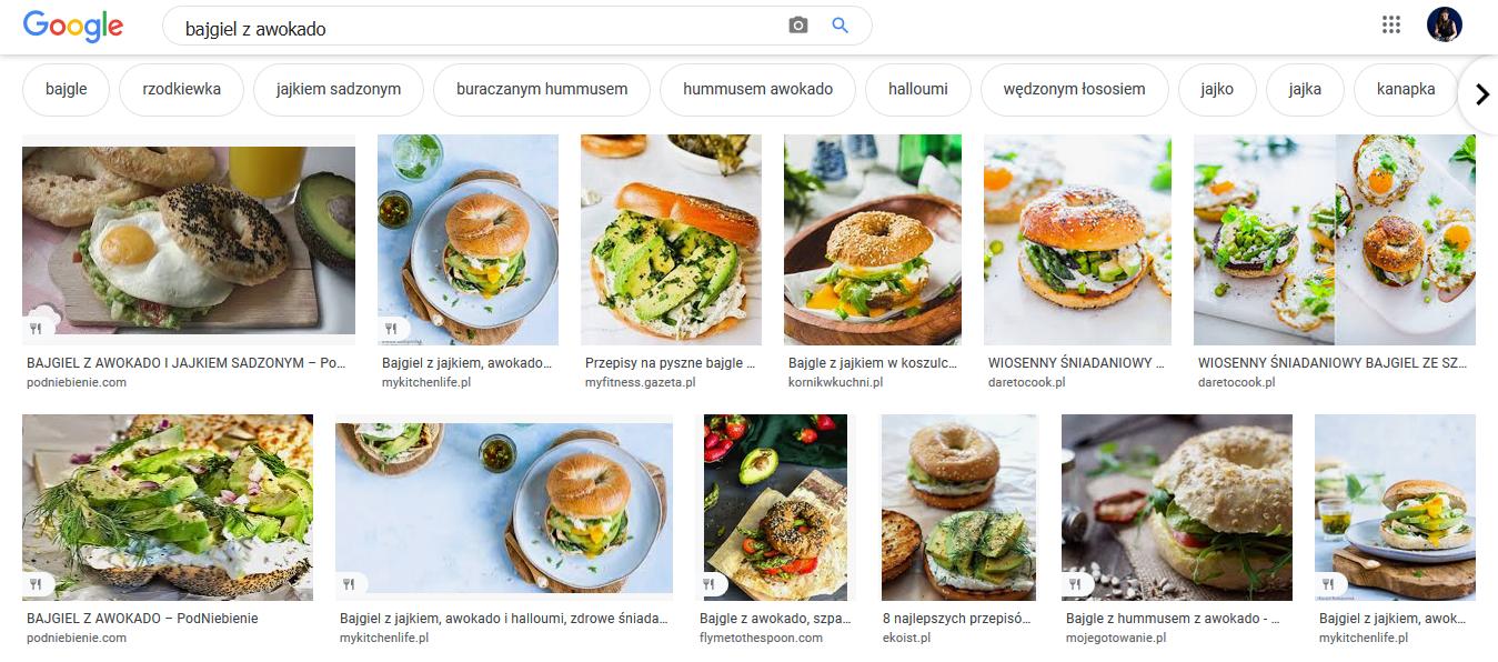 Wyniki Google grafika